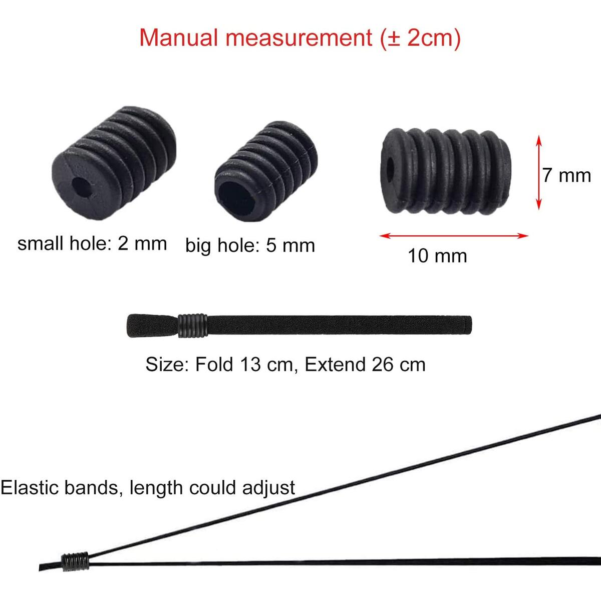 ILamourCar Elastic Bands with Adjustable Buckle Aluminum Strips Nose Wire, 100 Pack 90MM Nose Bridge & 100 Pack 23CM Elastic String Bands for DIY Mask Making Accessories for Sewing Crafts-Black
