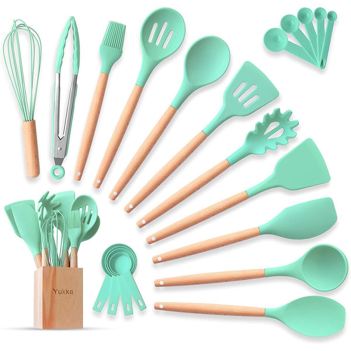 Silicone Kitchen Utensils Cooking Set 22pcs