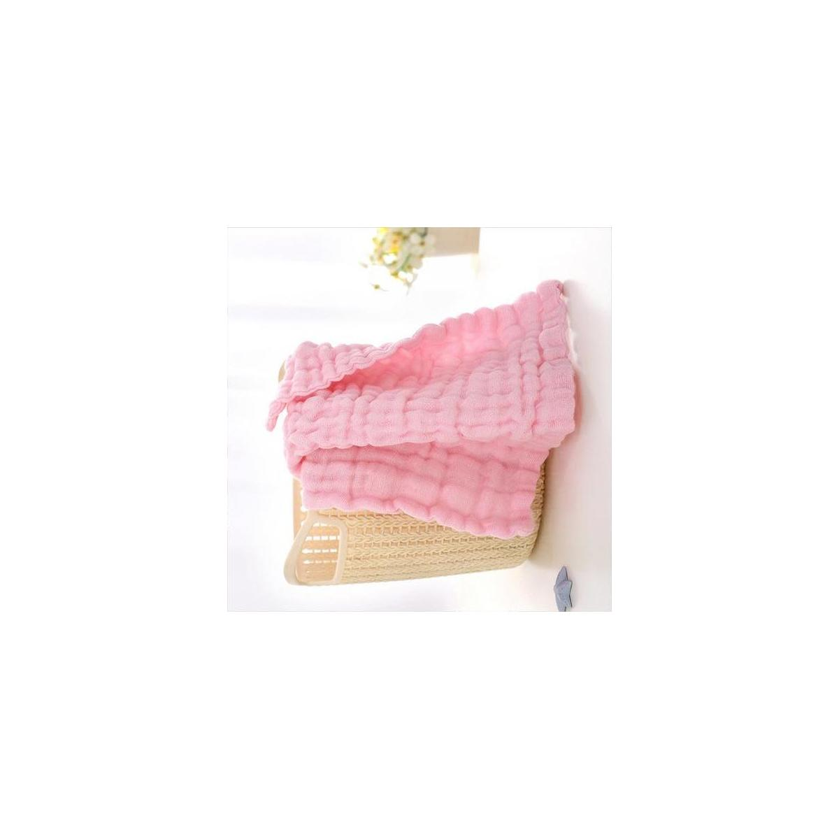 100% Organic Cotton Soft Muslin Baby Burp Cloths | 5 Pack 10 X 20 inches  | 6 Layers Extra Absorbent for Sensitive Skin-Baby