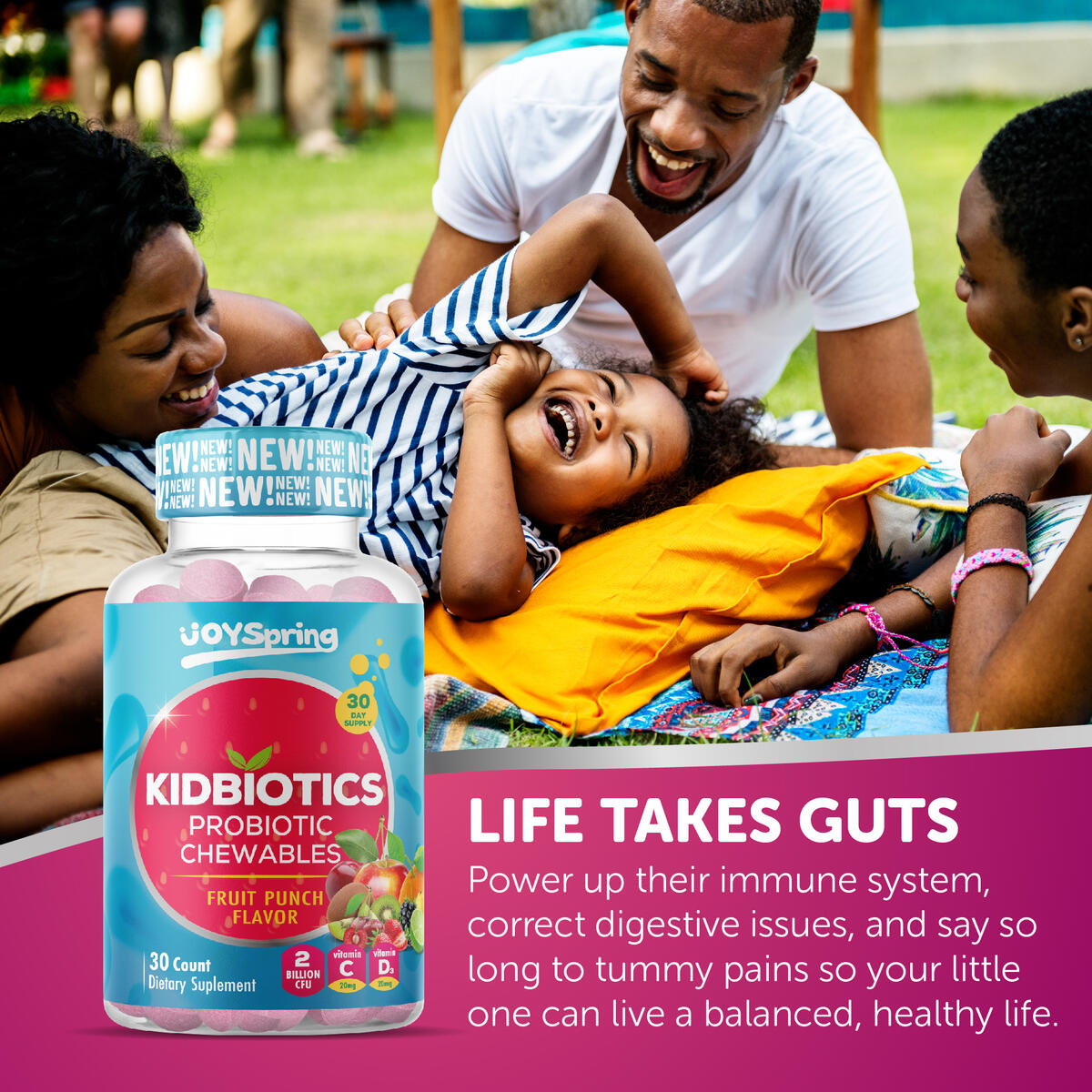 Chewable Probiotic and Multivitamin for Kids