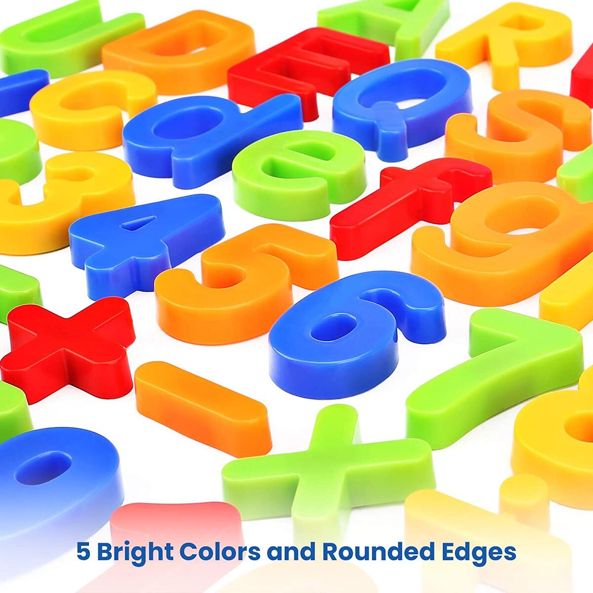 Plastic Magnetic Letters and Numbers Set
