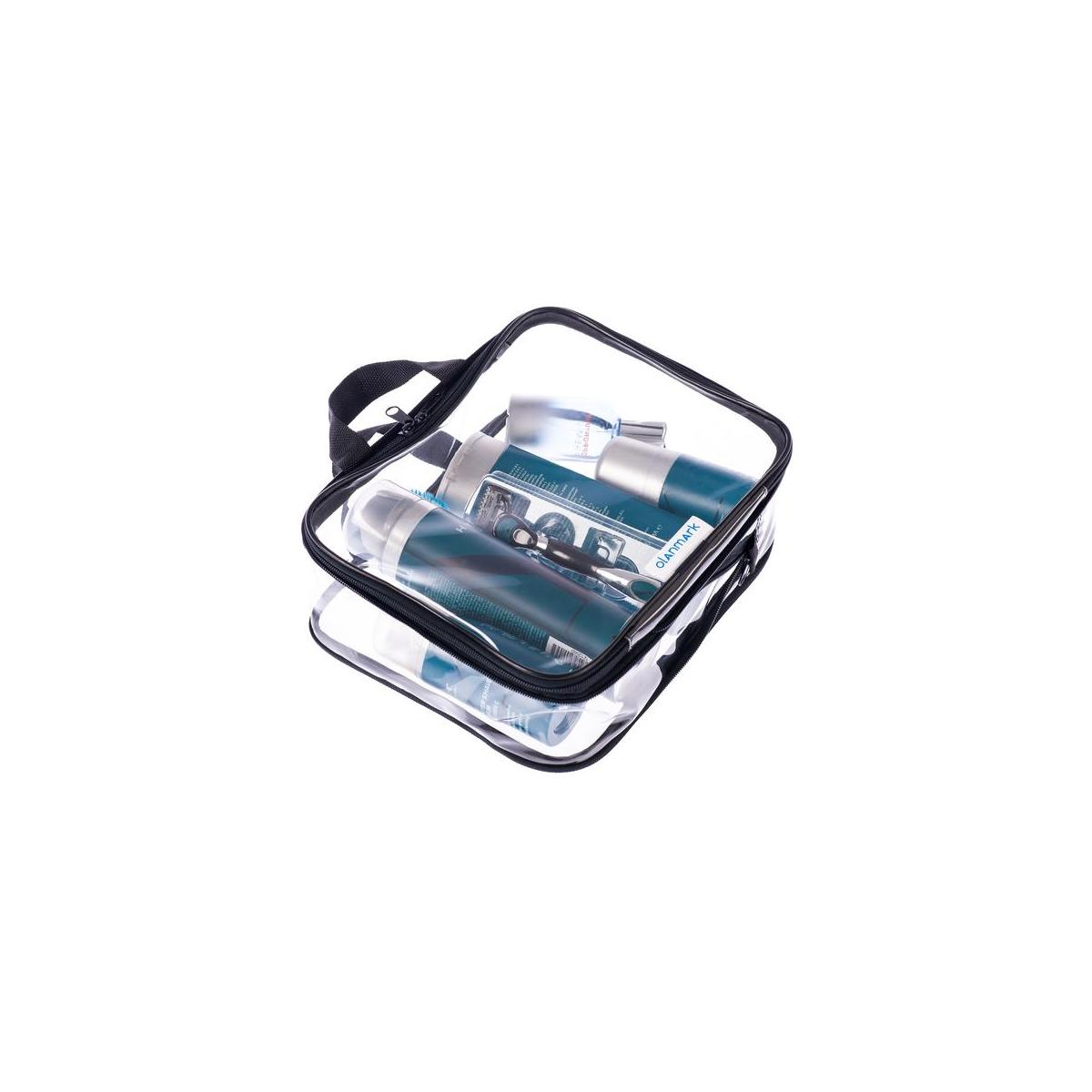 Clear Cosmetic Bag - Compression Packing Cubes - Big Travel Toiletry Bags - Large Transparent Make Up Organizer