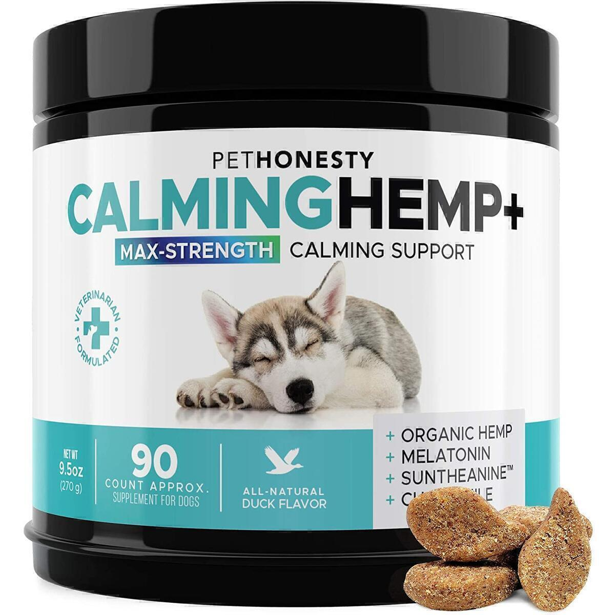 PetHonesty Calming Hemp + (Maximum Strength Calming Support)