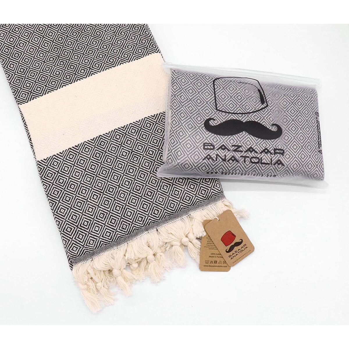 Diamond Turkish Towel 100% Cotton Bath Towel Peshtemal Beach Towel 77x38