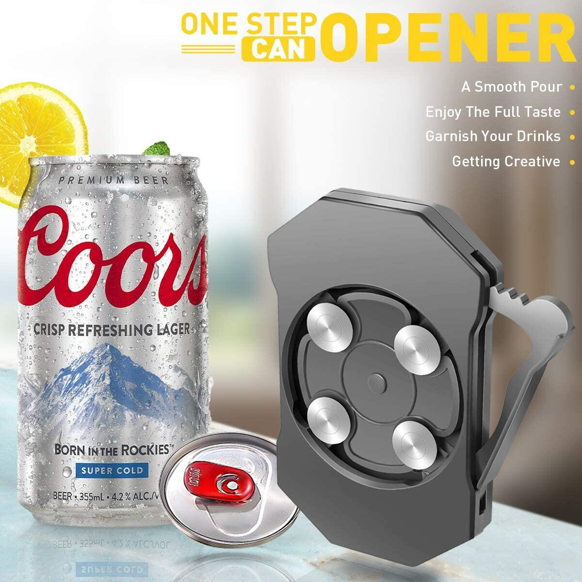 Beer Can Opener, Rip and Sip Can Opener, Soda Can Openers Topless Can Opener Can Top Remover, Go Swing Topless Can Opener, Beer Can Opener that Cuts Open the Top, No Sharp Edge