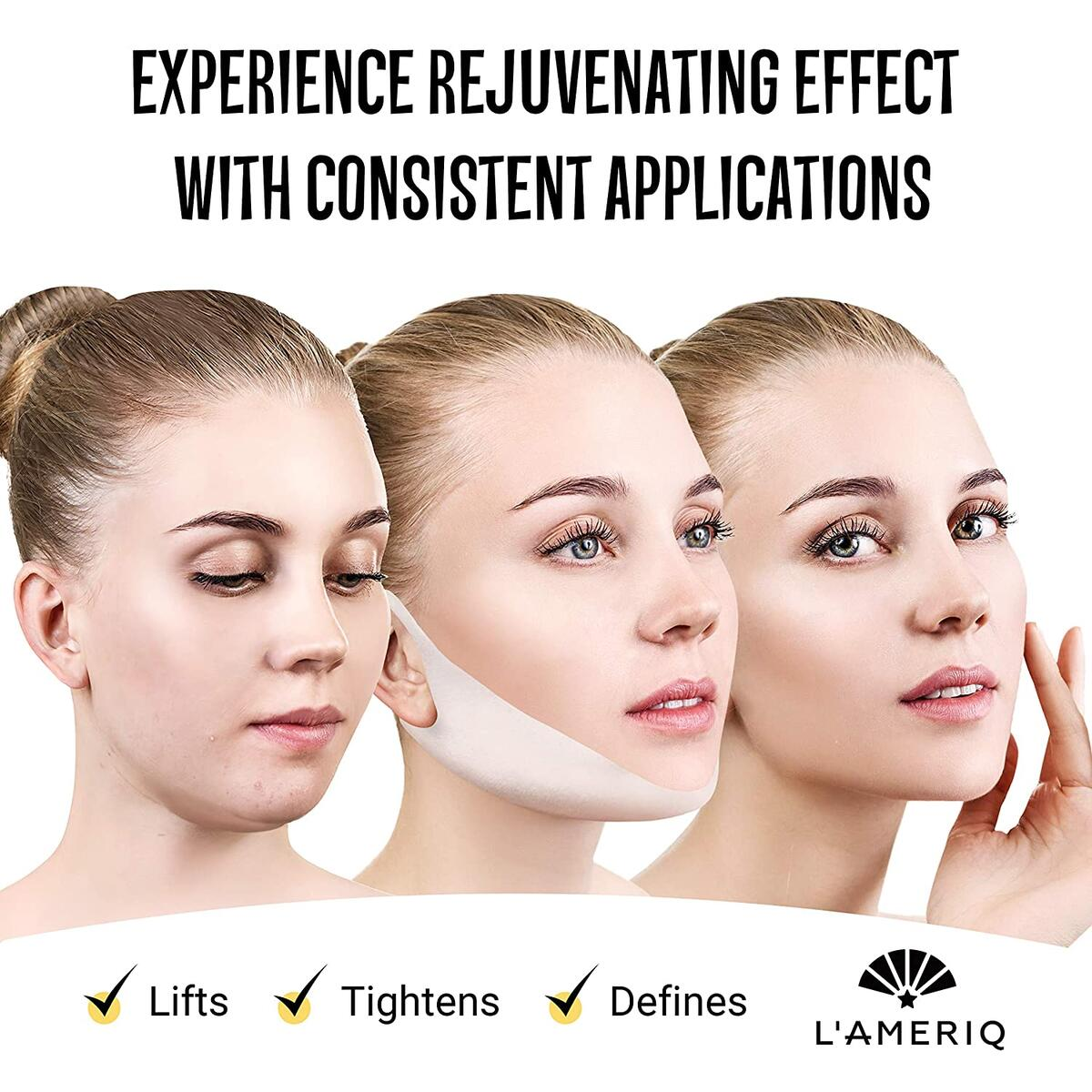 V Line Lifting Mask - Double Chin Reducer Strap - Face Lift Tape - Neck Strap - Face Jawline Shaper - V Shaped Slimming Face Mask - For Face Lift Firm