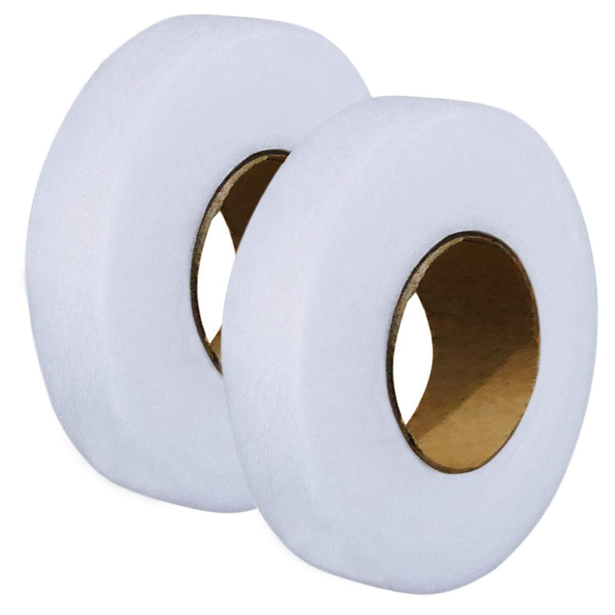 2pcs Hem Iron-On Adhesive Tape Fabric Fusing Tape Each 27 Yards Length, 0.59inch/1.5cm Width