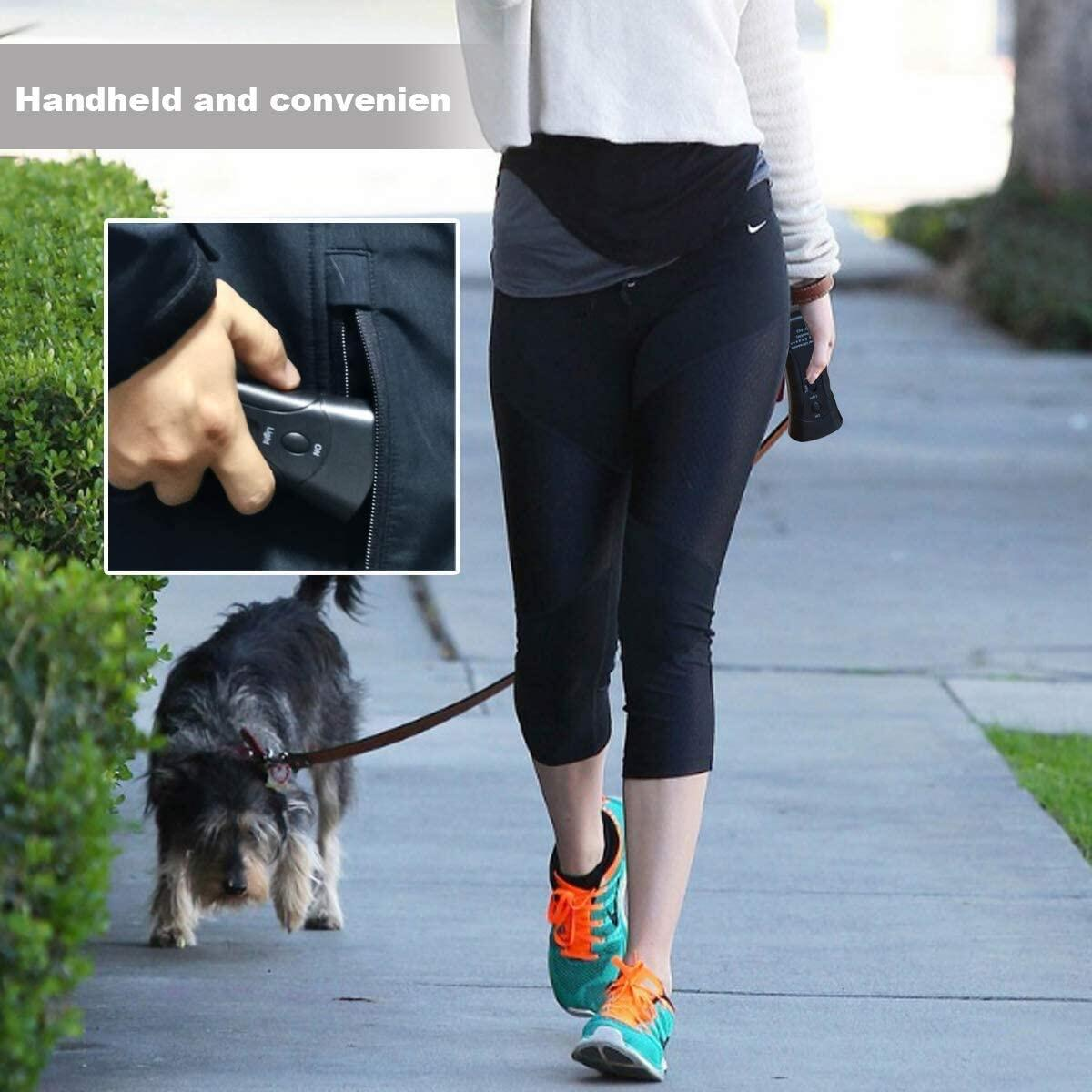 ZIMRIT Anti Barking Device - Ultrasonic Dog Bark Deterrent Training Multi-Functions Pet Anti-Barking Silent Commands Distracts Attention Calm Handheld Audible Repellent Safe to Use Indoor & Outdoor