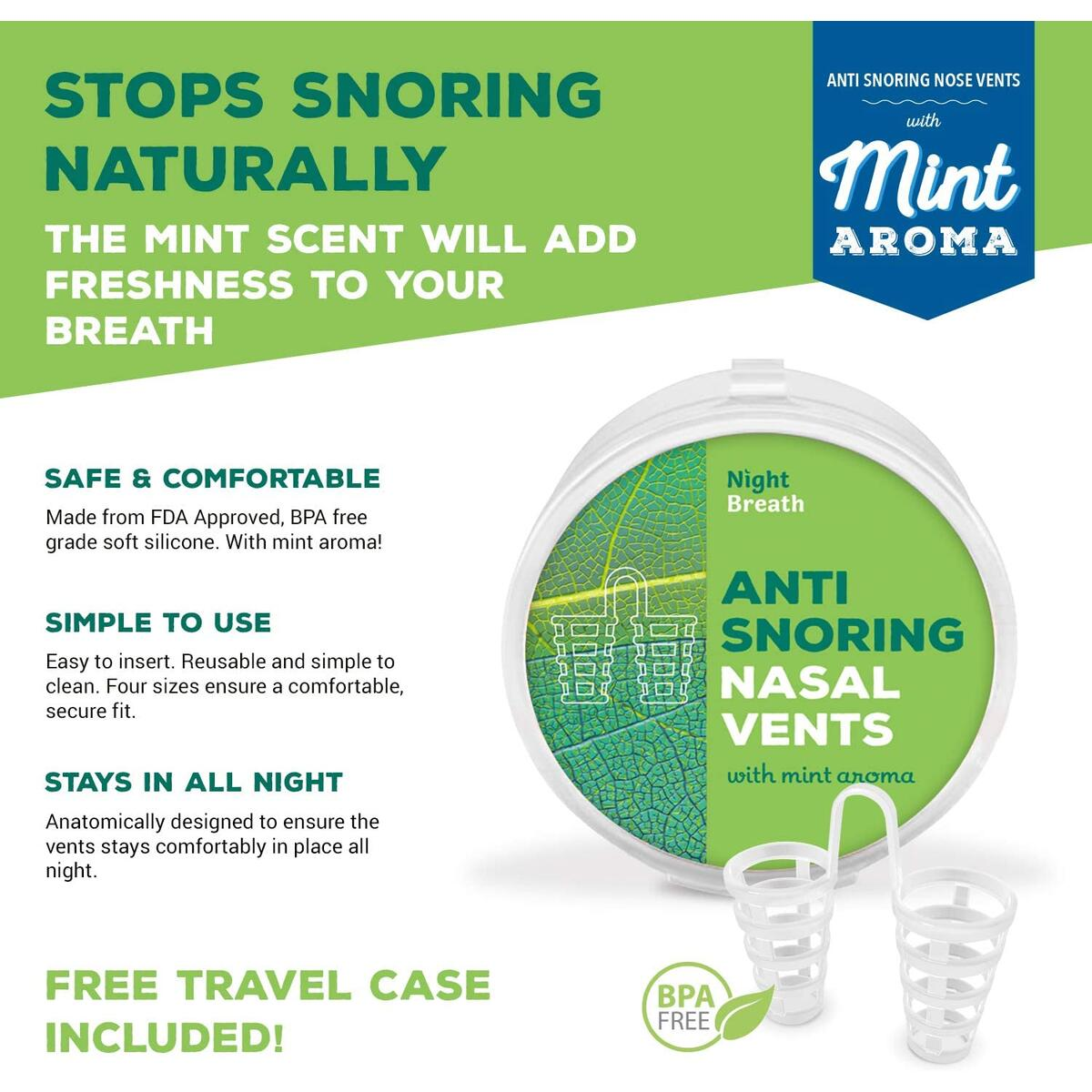Snore Stopper Solution with Mint Aroma
