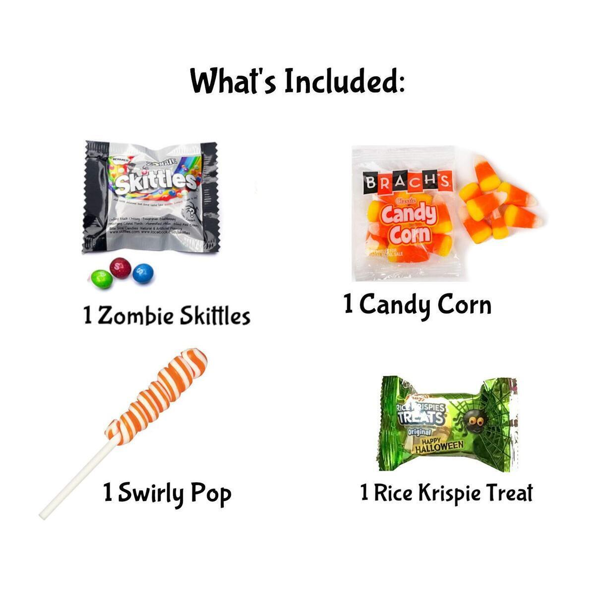 Halloween Movie Night Spooky Basket With Candy Plus Free Redbox Movie Rental Code Gift Card (Halloween Popcorn Gift - Individual #3)