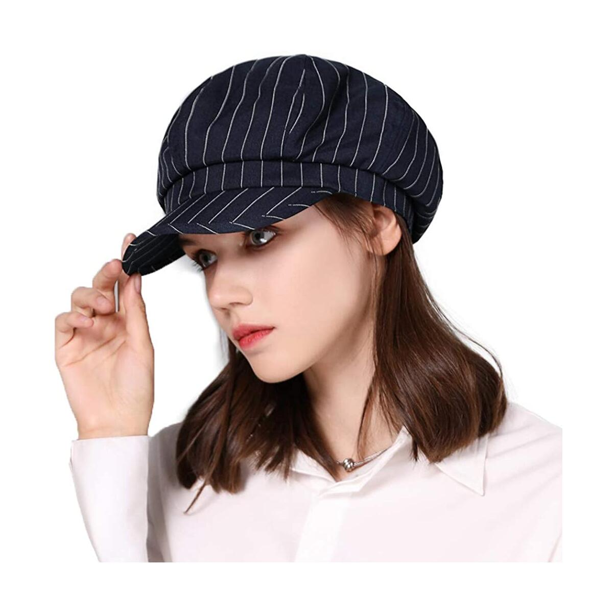 Fancet Packable Beret Newsboy Cap for Women Spring Summer Winter Gatsby Visor Hat 55-59 cm