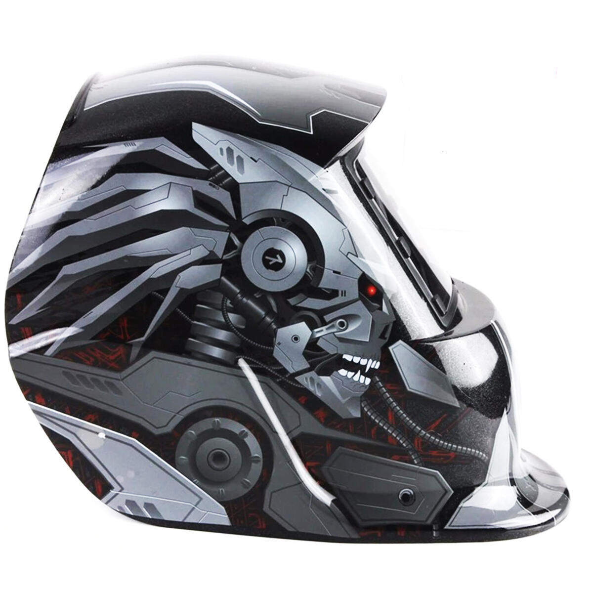 True Color Solar Powered Auto Darkening Welding Helmet with Adjustable Shade Range, Tig Arc Welder Mask (Terminator)