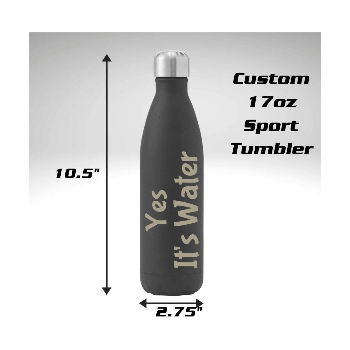 17oz Personalized Sport Tumbler with Custom Laser Engraving