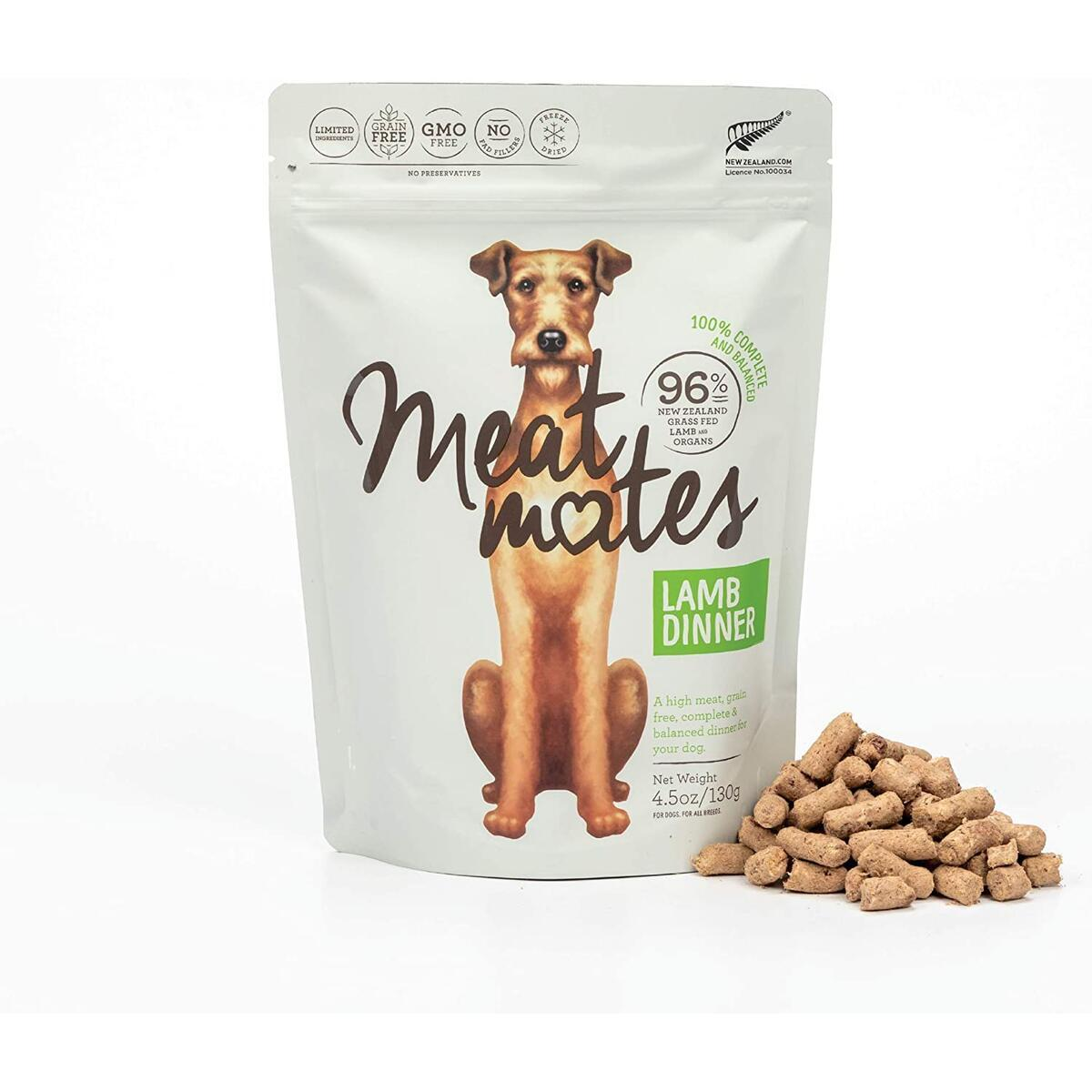 Meat Mates Grain-Free Freeze-Dried Dog Food - Lamb 14 OZ