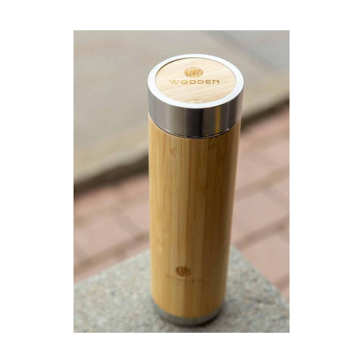 Bamboo Tumbler with Tall Tea Infuser and Loose Leaf Strainer (500 ml)