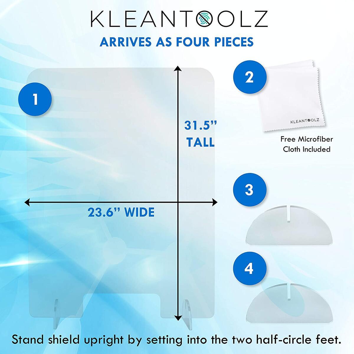 Clear Plexiglass Acrylic Protective Sneeze Guard Counter Shield Plexi Glass Screen Divider Barrier for Reception Office School Salon Partition Window (24