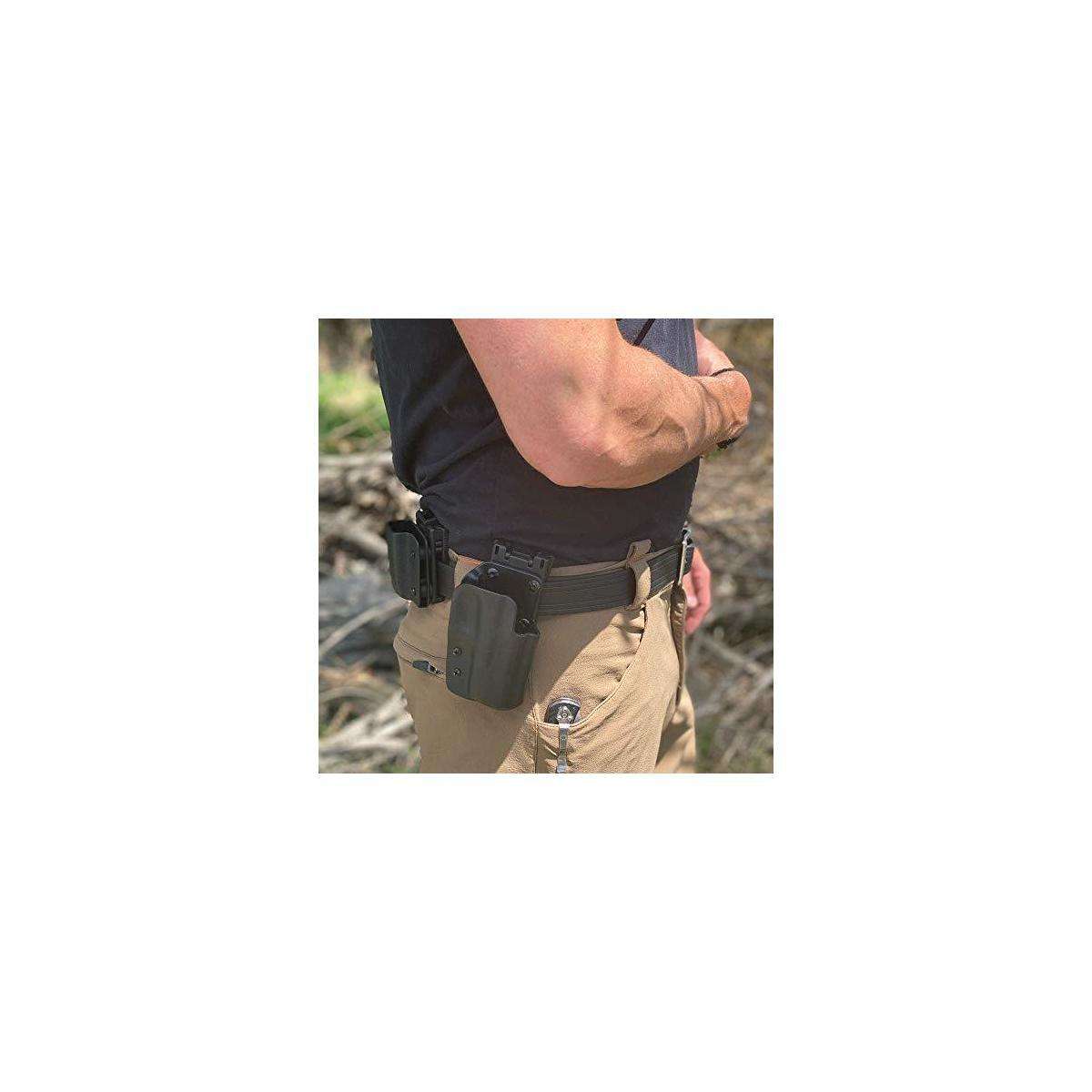 Biothane Heavy Duty Cut to Fit Tactical Concealed Carry Gun Belt | CCW | Stretch Proof | Made in USA