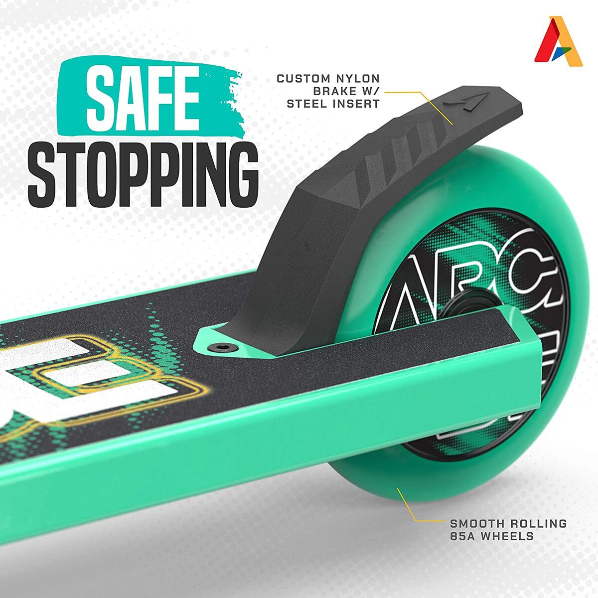 ARCADE Rogue Beginners Stunt Scooter (Green/Teal ONLY!!!)