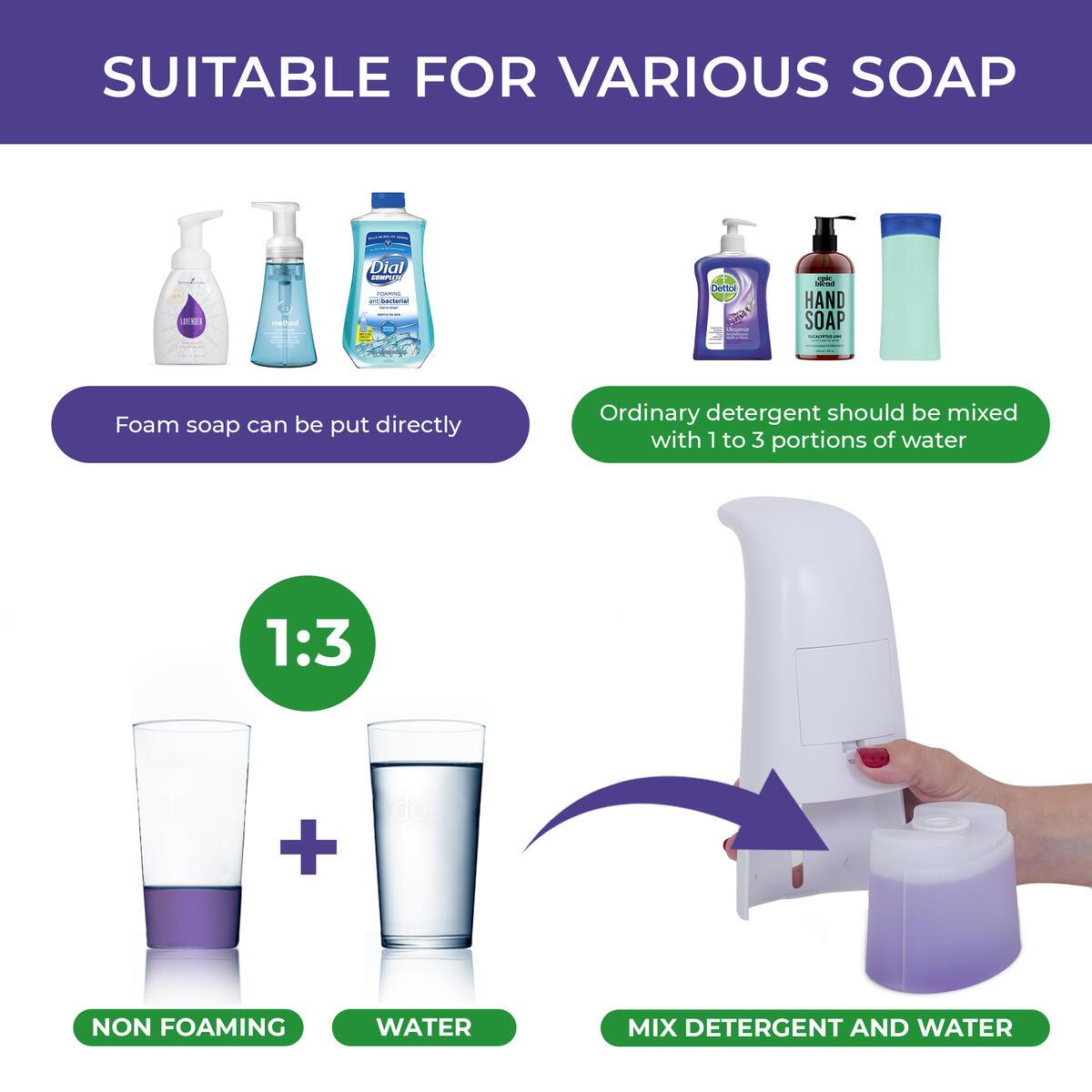 Automatic Hand Free Foaming Liquid Soap Dispenser