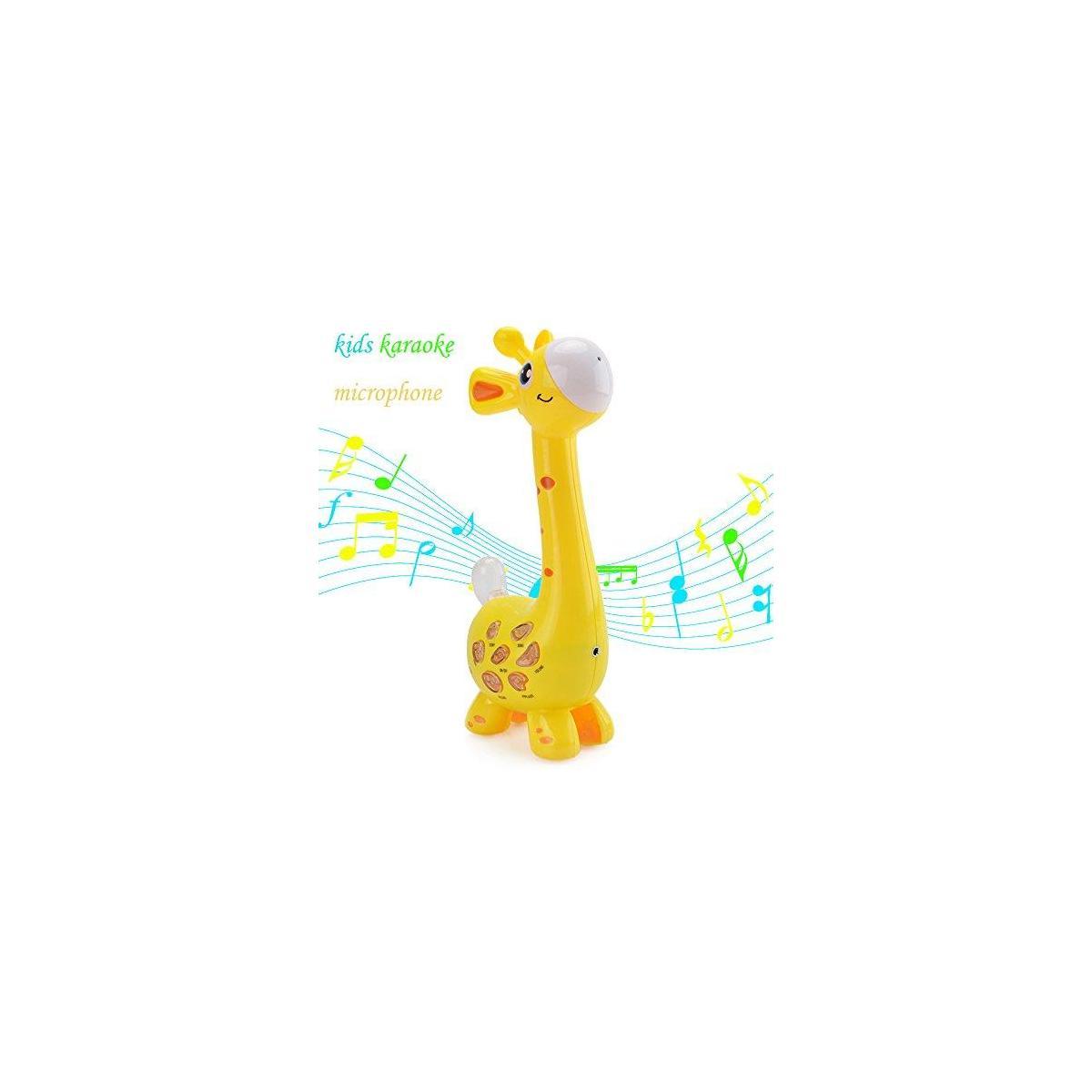 Happytime Kids Karaoke Microphone Musial Toys 2019 Cool Giraffe Design Birthday Gifts Intelligence Development Toys for 18 Months up Children