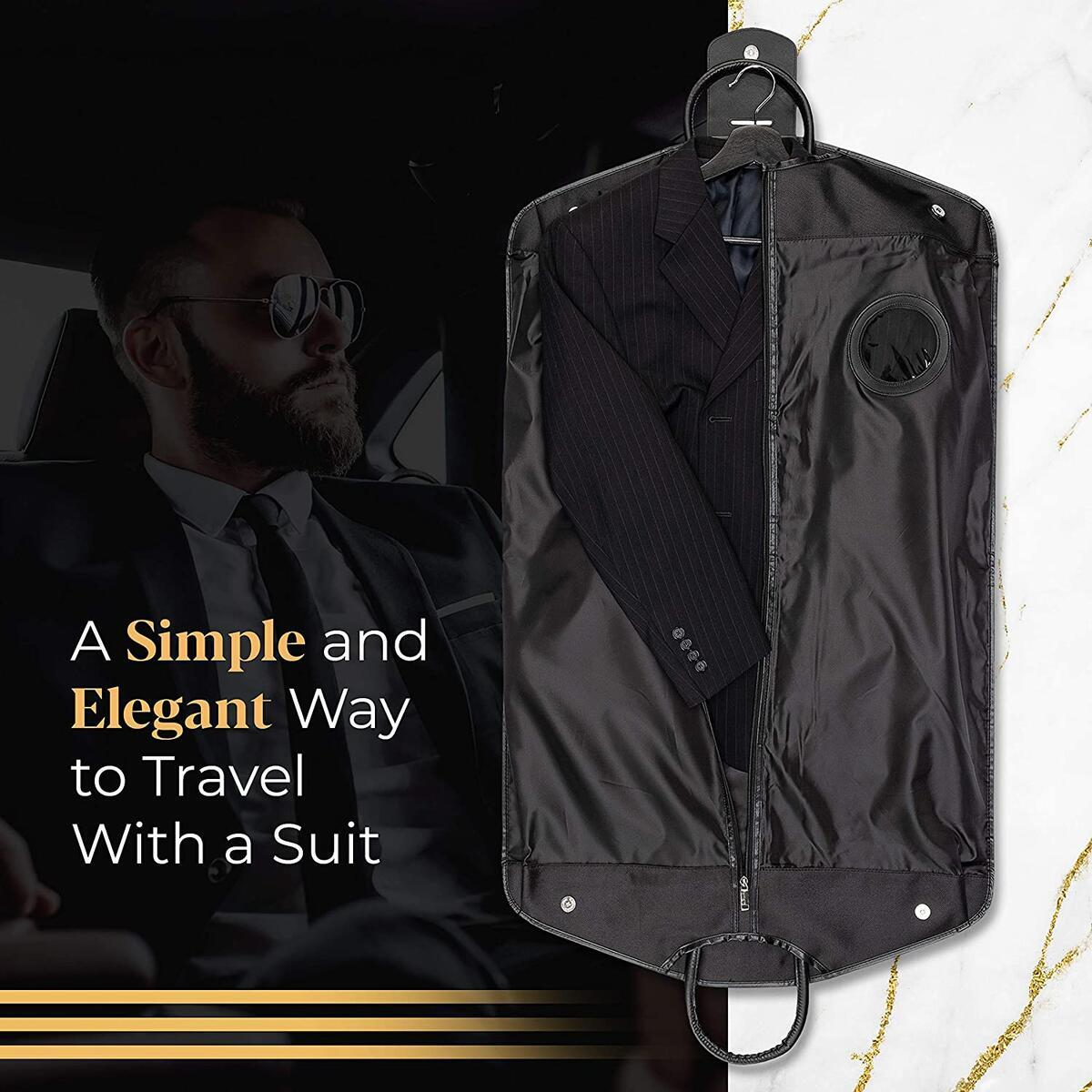 Tavisz Heavy Duty Premium Travel Suit Garment Bag