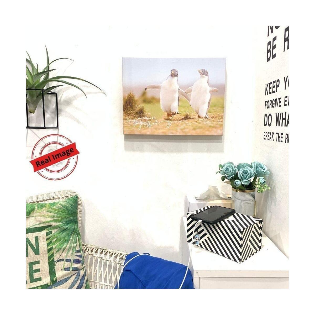 Canvas Wall Art - Funny Bathroom Decor, Cute Room Decor For Teen Girls Boys, Animal Print Picture, Framed Love Wall Decor, Funny Bathroom Wall Art, Ready to Hang, Cuadros Para Dormitorios, Baños