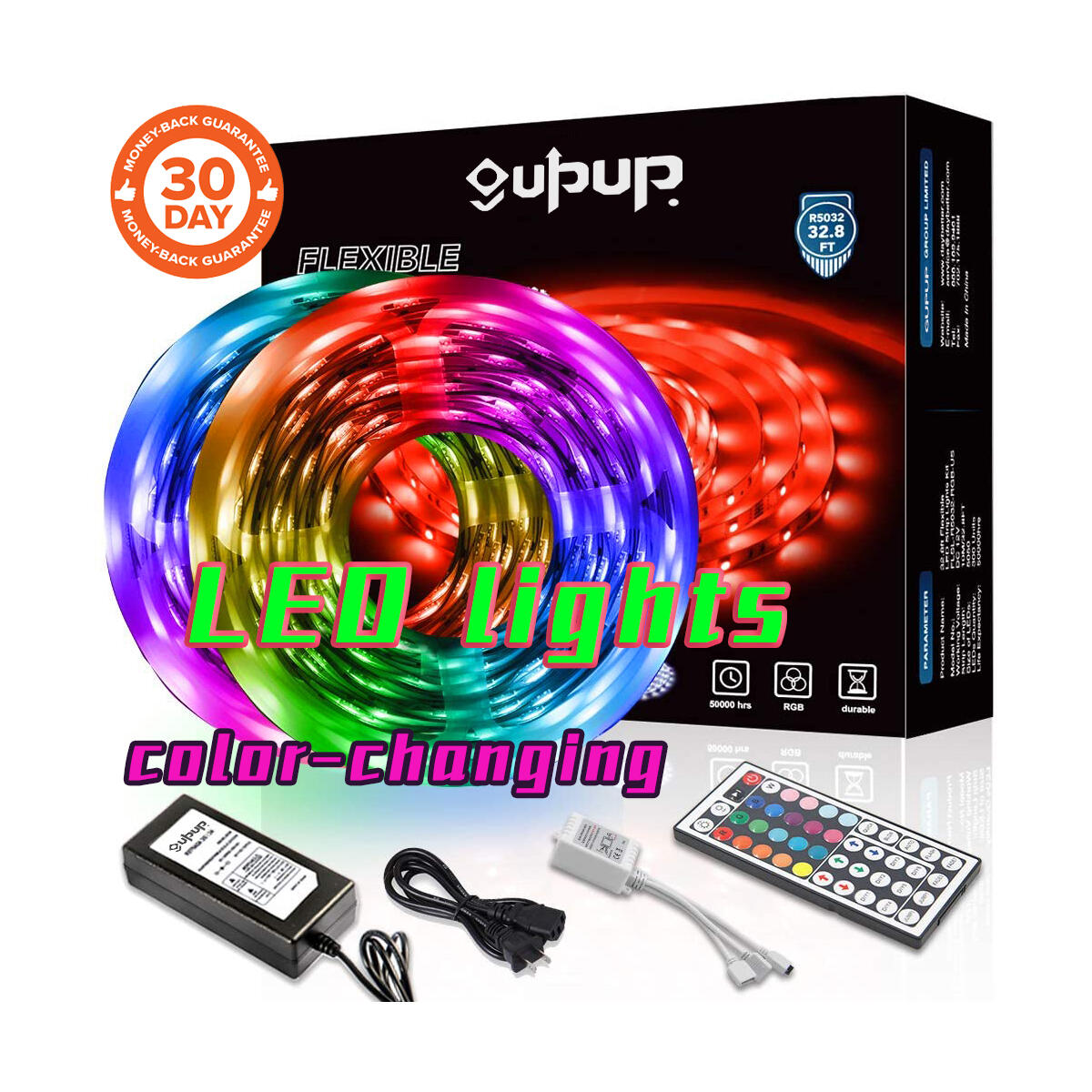 LED Strip Lights, 5050 Color-Changing Rope Lights ,Only for 32.8 feet