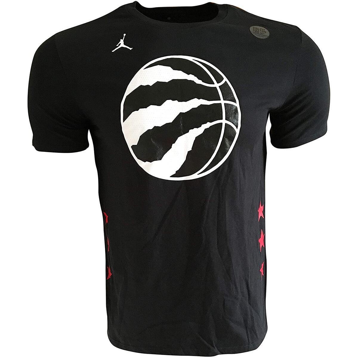 Nike Men's Kawhi Leonard #2 Toronto Raptors T-Shirt Black BQ2507 Cotton/Polyester Blend (Small)