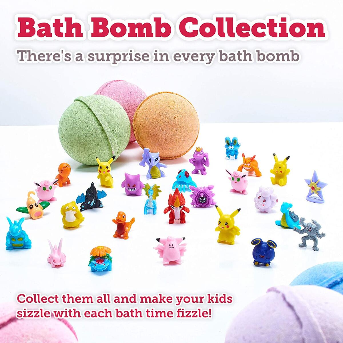 Handmade Bath Bombs with Surprise Inside - Set for Boys - Natural and Organic Ingredients