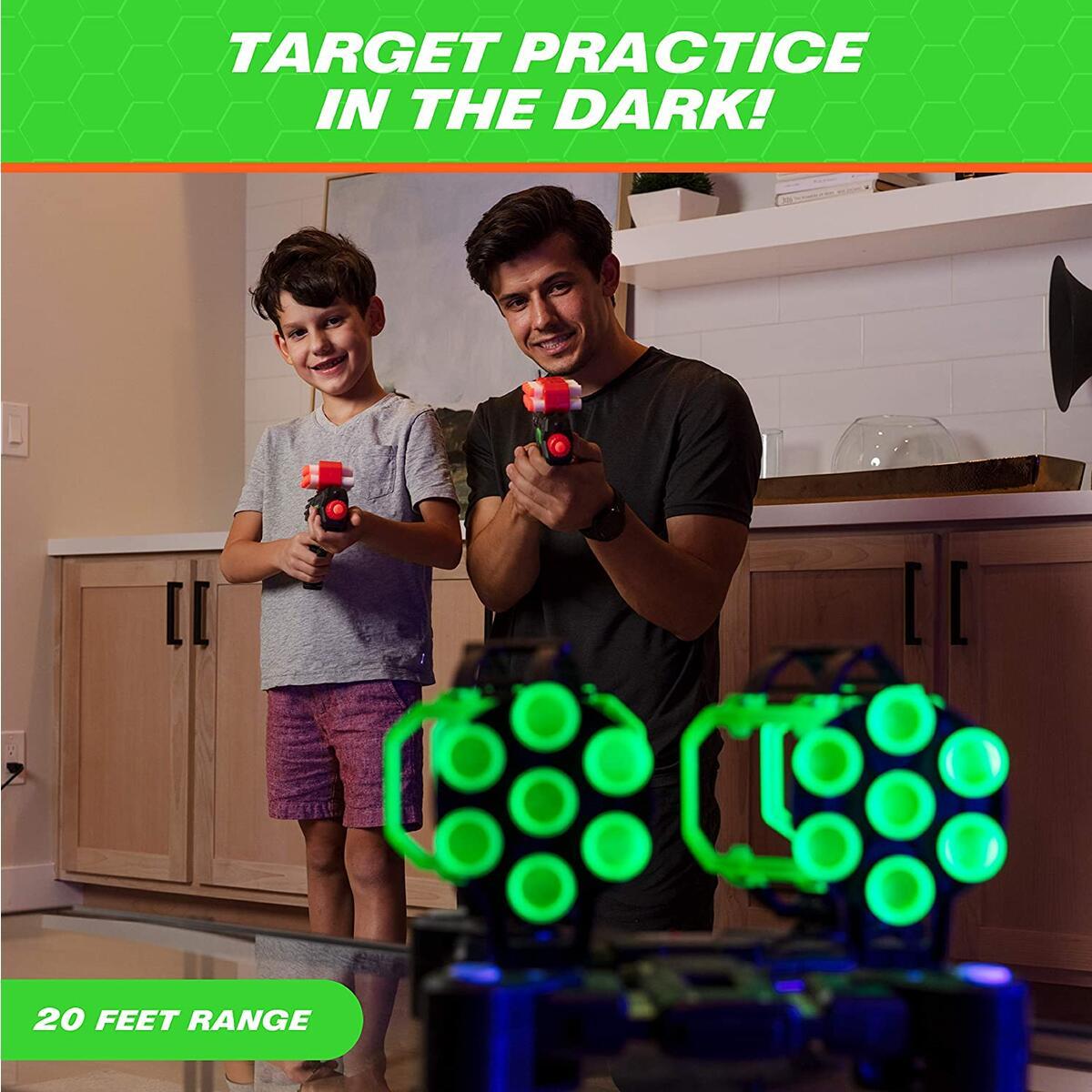 Astroshot Gyro Glow Rotating Target Shooting Game