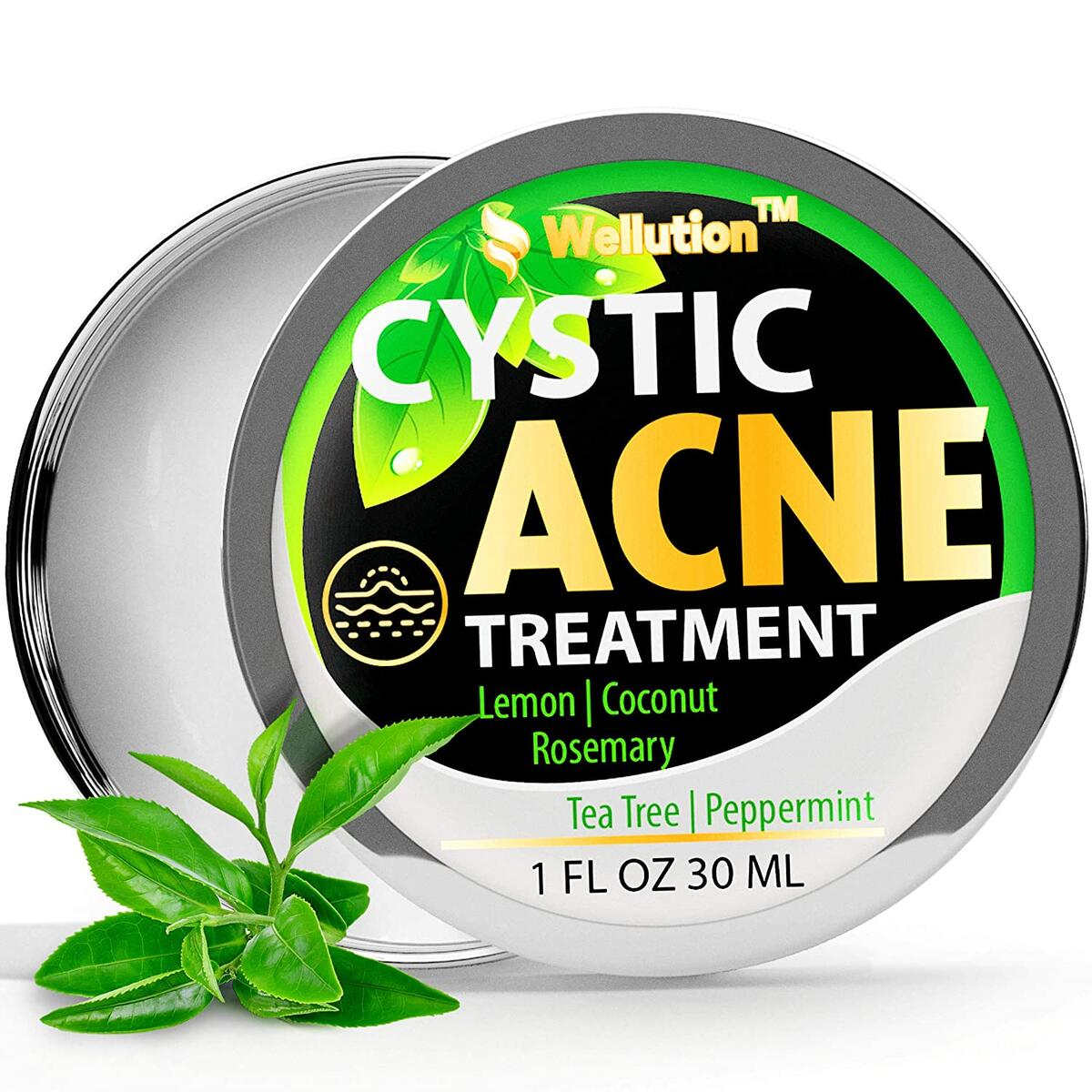 Cystic Acne Treatment and Acne Scar Remover - Made in USA - Effective Face & Body Severe Acne Cleanser with Tea Tree Oil - Prevent Future Breakouts - Natural Acne Spot Pimple Cream