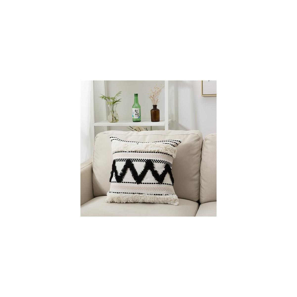 All Colors Available Morocco Tufted Boho Throw Pillow Covers 18x18 Inch Cashback Rebatekey