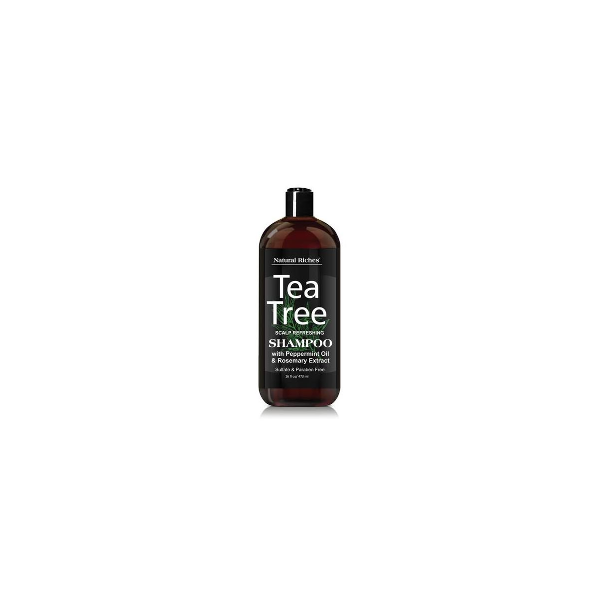 Tea Tree special anti-dandruff Shampoo - with 100% Pure Tea Tree Oil, for Itchy and Dry Scalp, Sulfate Free, Paraben Free. 16 Fl Oz.