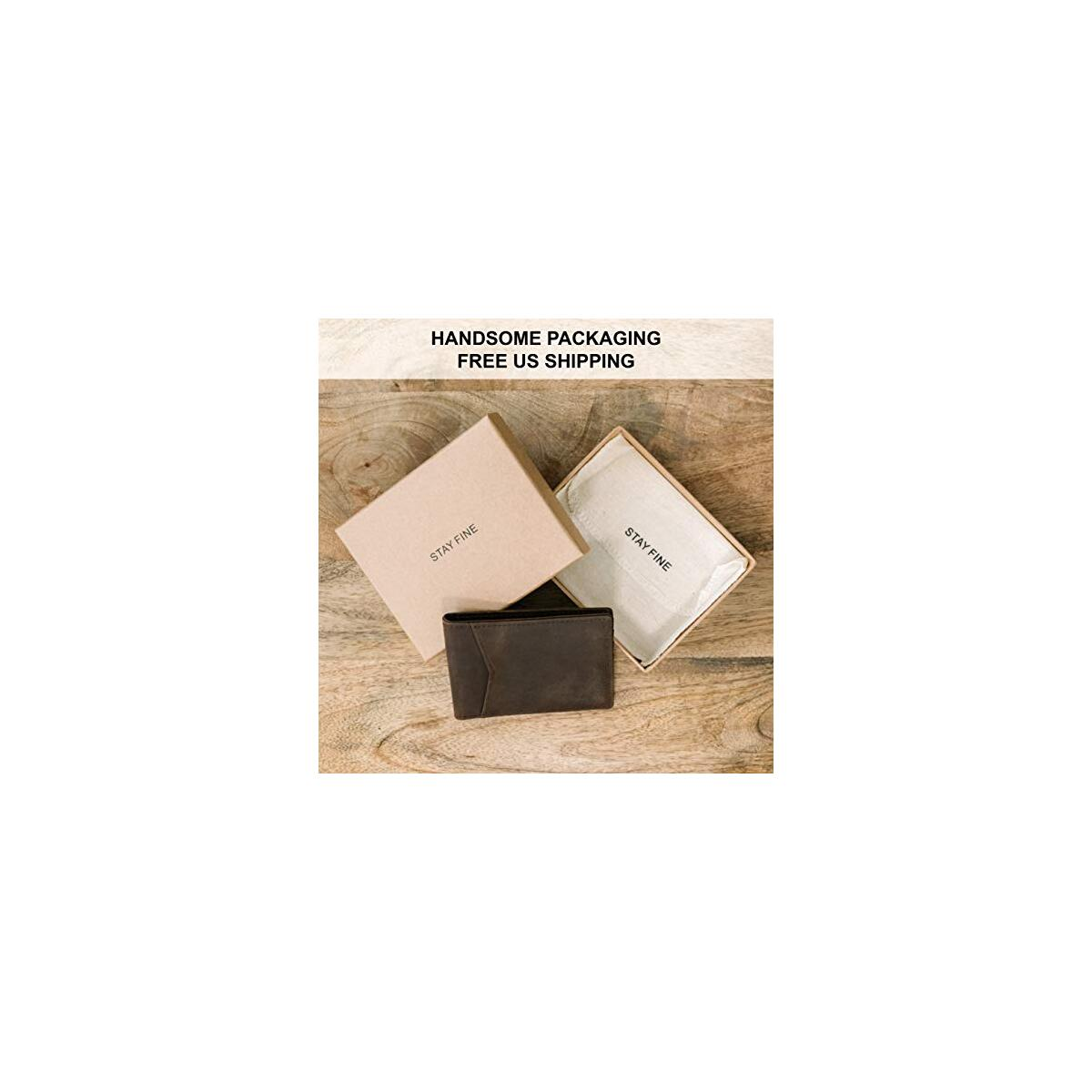Slim Front Pocket Wallets for Men -RFID Blocking Minimalist Wallets