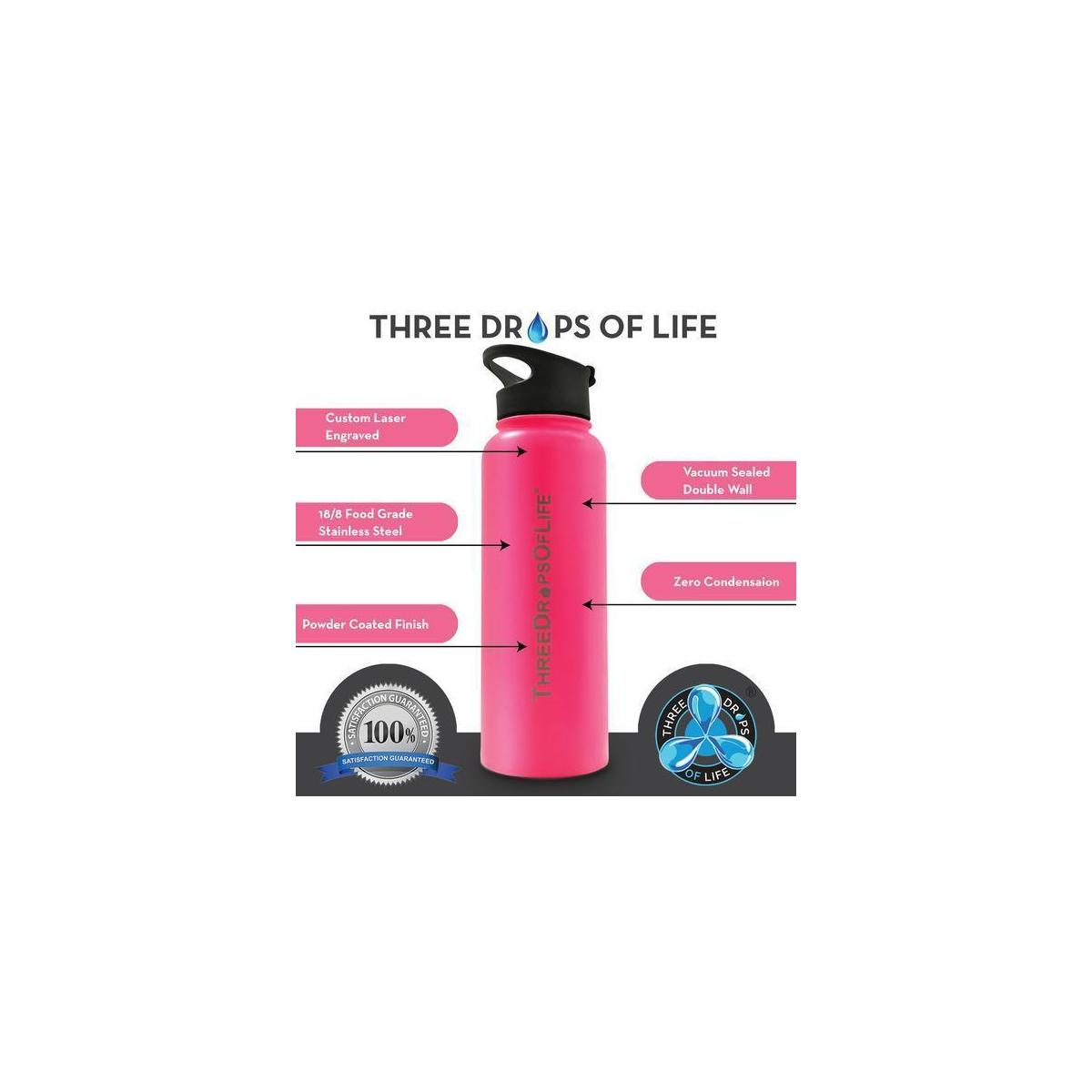 40oz Vacuum Insulated Water Bottle, Include Three Lids