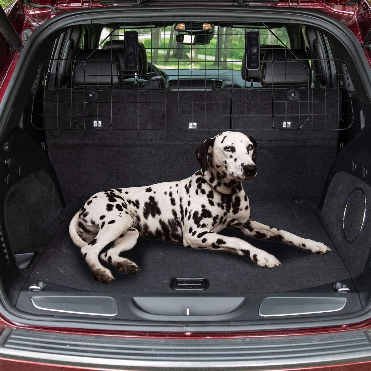 VaygWay Dog Car Pet Barrier – Adjustable Pet Gate Dog Fence – Vehicle Separation Dog Pet Barrier - Universal SUV Car Vehicle Fit