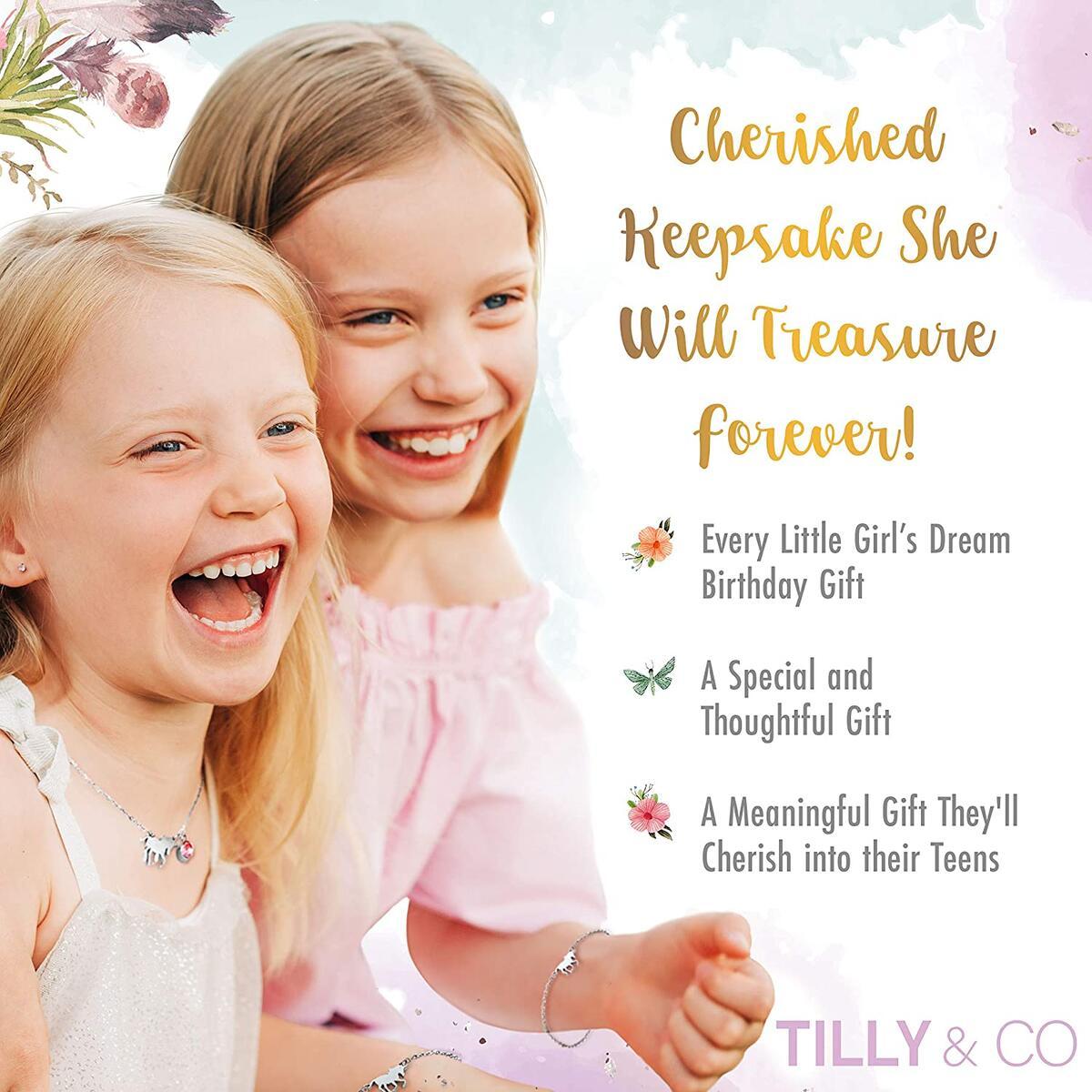 Unicorn Jewelry Box for Girls and matching Jewelry Set PLUS Bonus Artwork