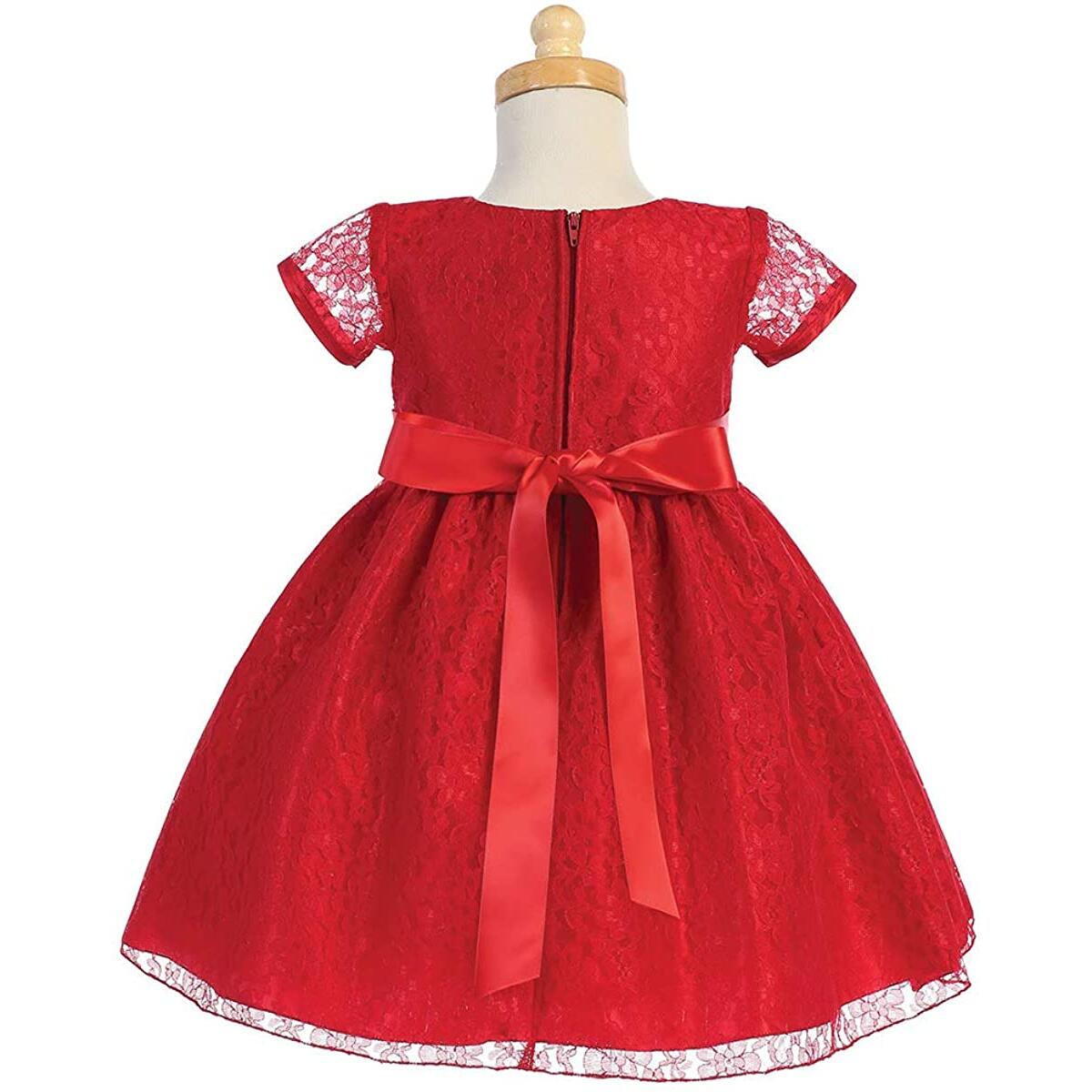 Pink Princess Christmas Dresses for Girls - Red Baby Toddler Outfits - Made in USA