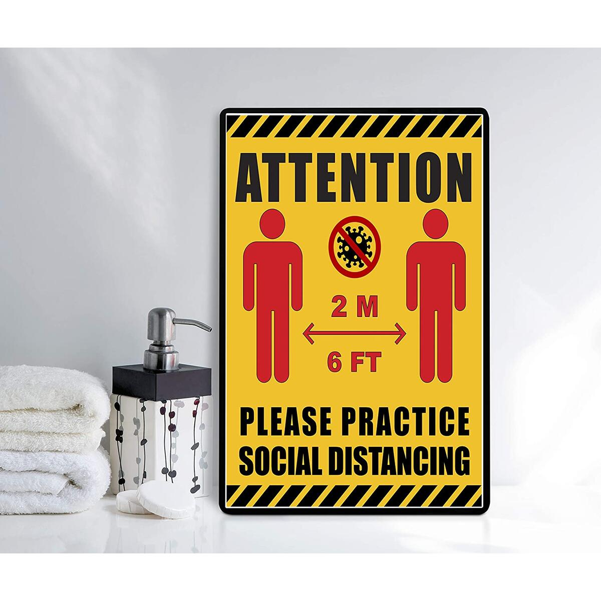 Social Distancing Sign (Cardstock, 8.5