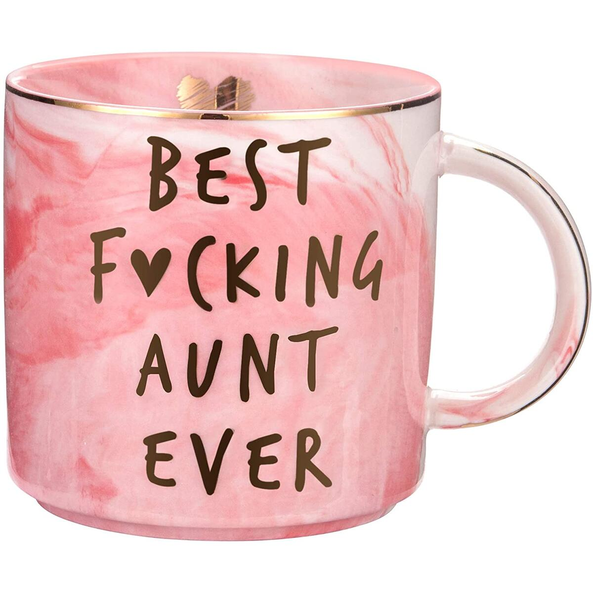 Aunt Gifts from Niece, Nephew - Best Aunt Ever - Funny Gift for Aunts - BAE Best Aunt Ever Gifts for Birthday - Great Auntie Gifts - Cute Favorite Aunt Mug, Ceramic 11.5oz Coffee Cup