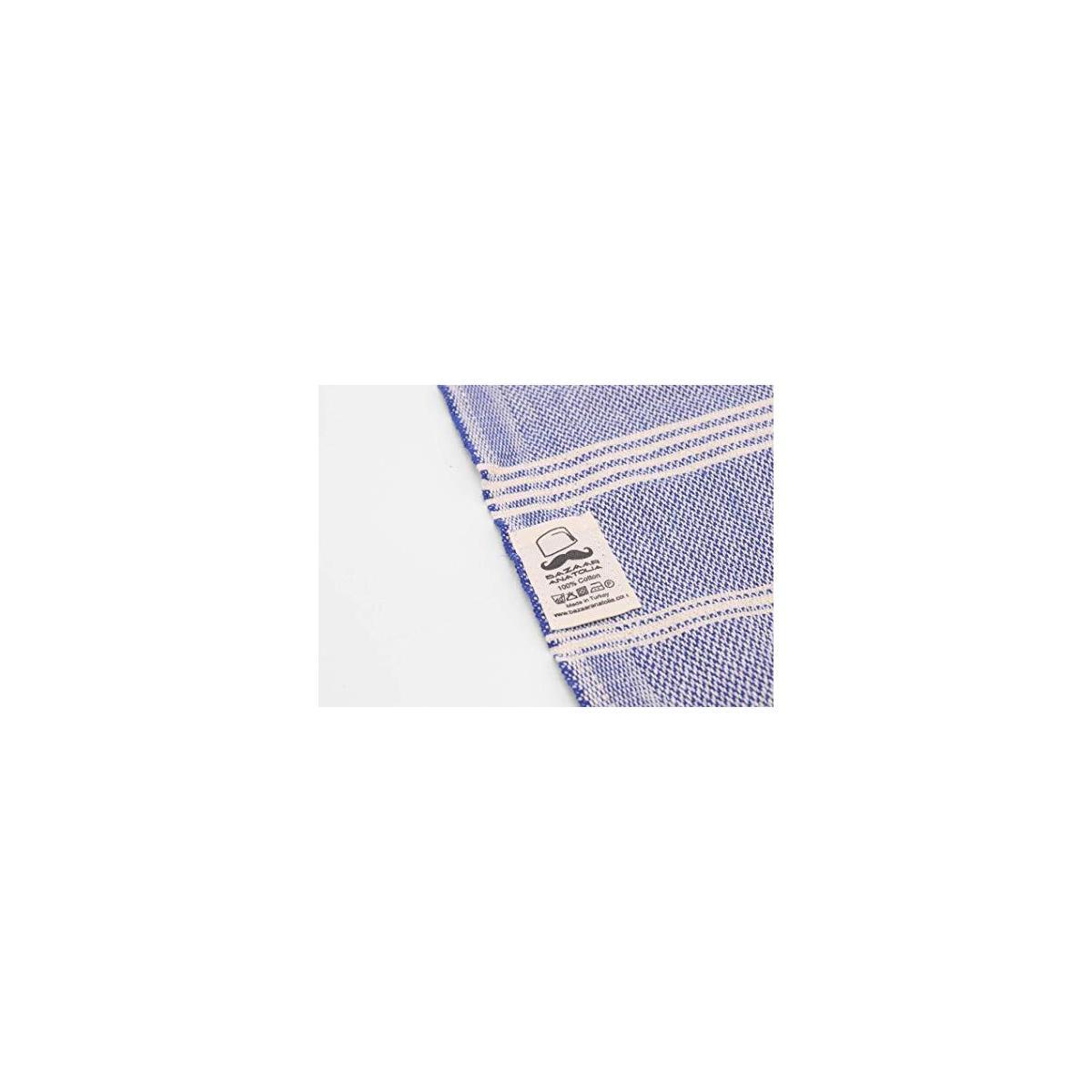Hand Towel Set of 4 Peshtemal Towel 100% Cotton 45x20 (DARK BLUE)