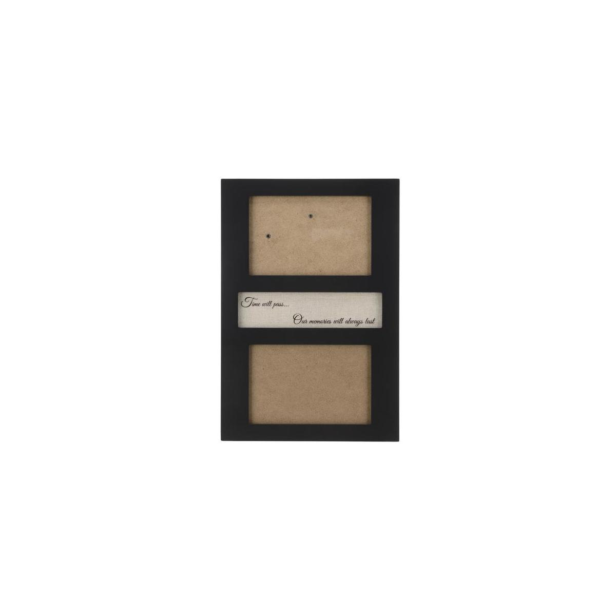 Precise Obsession 4x6 Picture Frame for Desk or Wall, Dual MDF Wood Photograph Frame with Heart Warming Quote for Near and Dear Memories to Cherish, Black