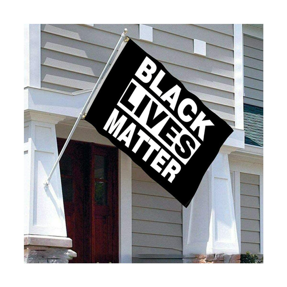 uHome Black Lives Matter Flag 3' x 5' (90 x 150 cm) Polyester, BLM Peace Protest Banner for Outdoor Activities or House, Apartment or Garden