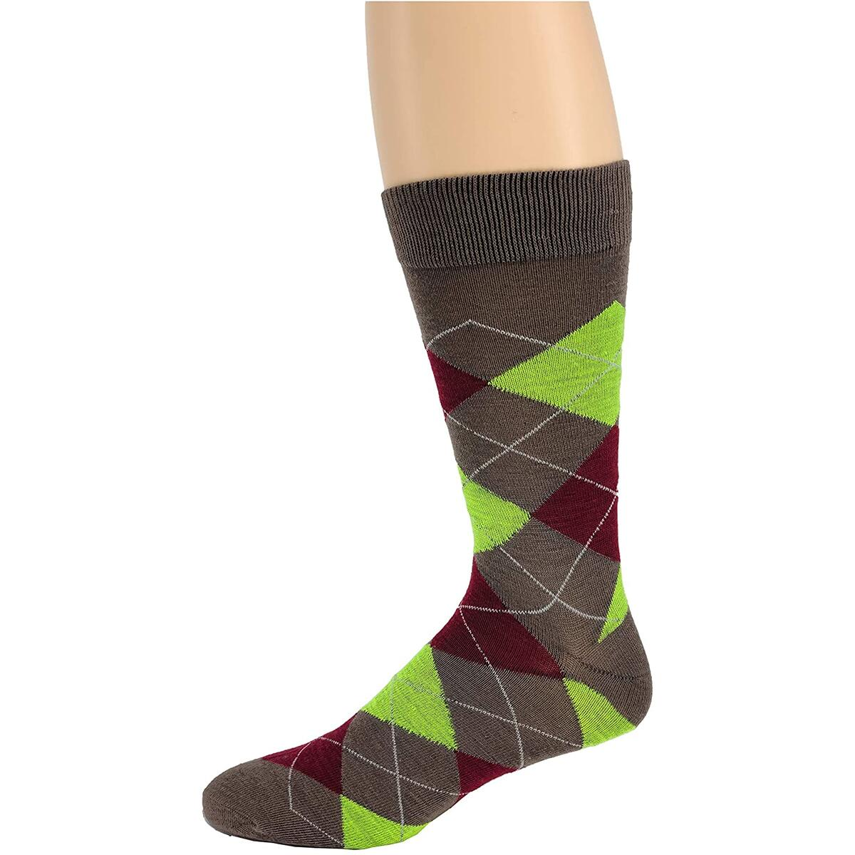 Debra Weitzner Mens Dress Socks Cotton Colorful MULTI STRIPED PATTERN ONLY 6 Pairs With Gift Box color bright argyle size 10-13