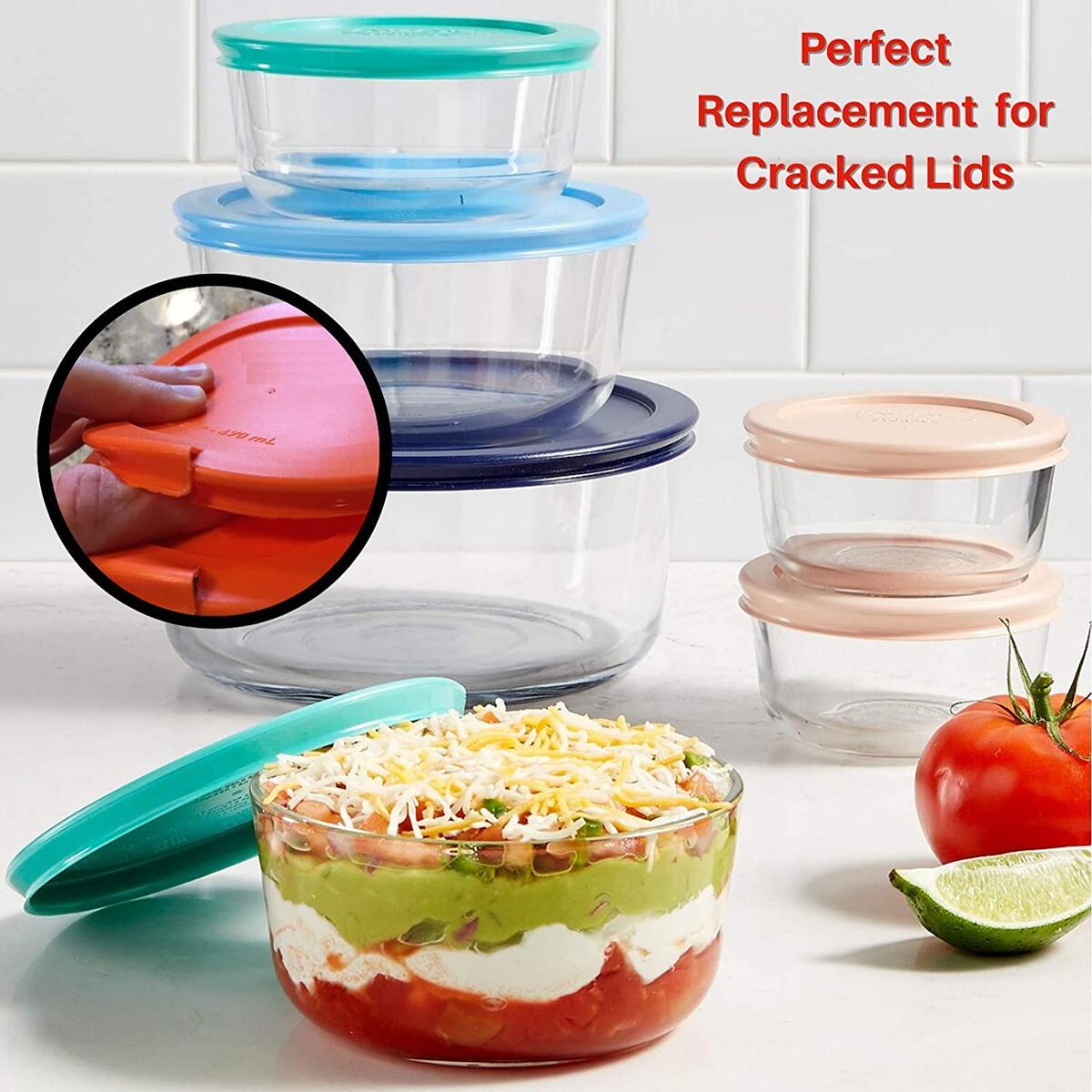 Silicone Lids - 6 Pack - USA Brand Top Quality