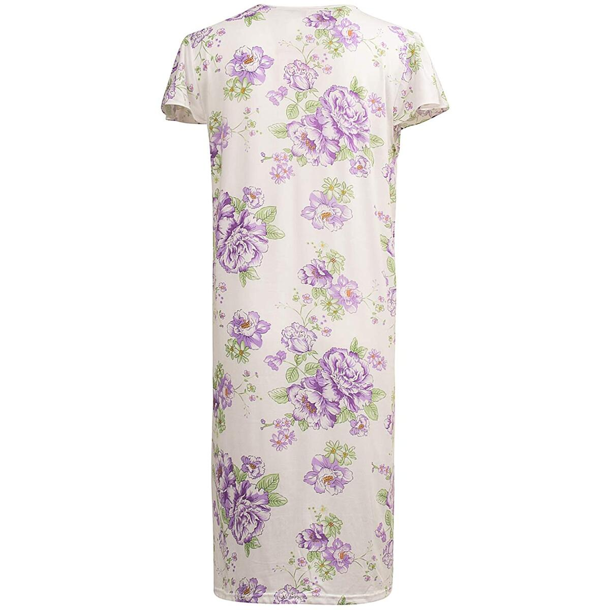 Rebate Only For- Size: Extra Large (XL) Color: 812_Purple JEFFRICO Nightgowns for Women Sleepwear for Women Nightgown Dress Pajama Dress