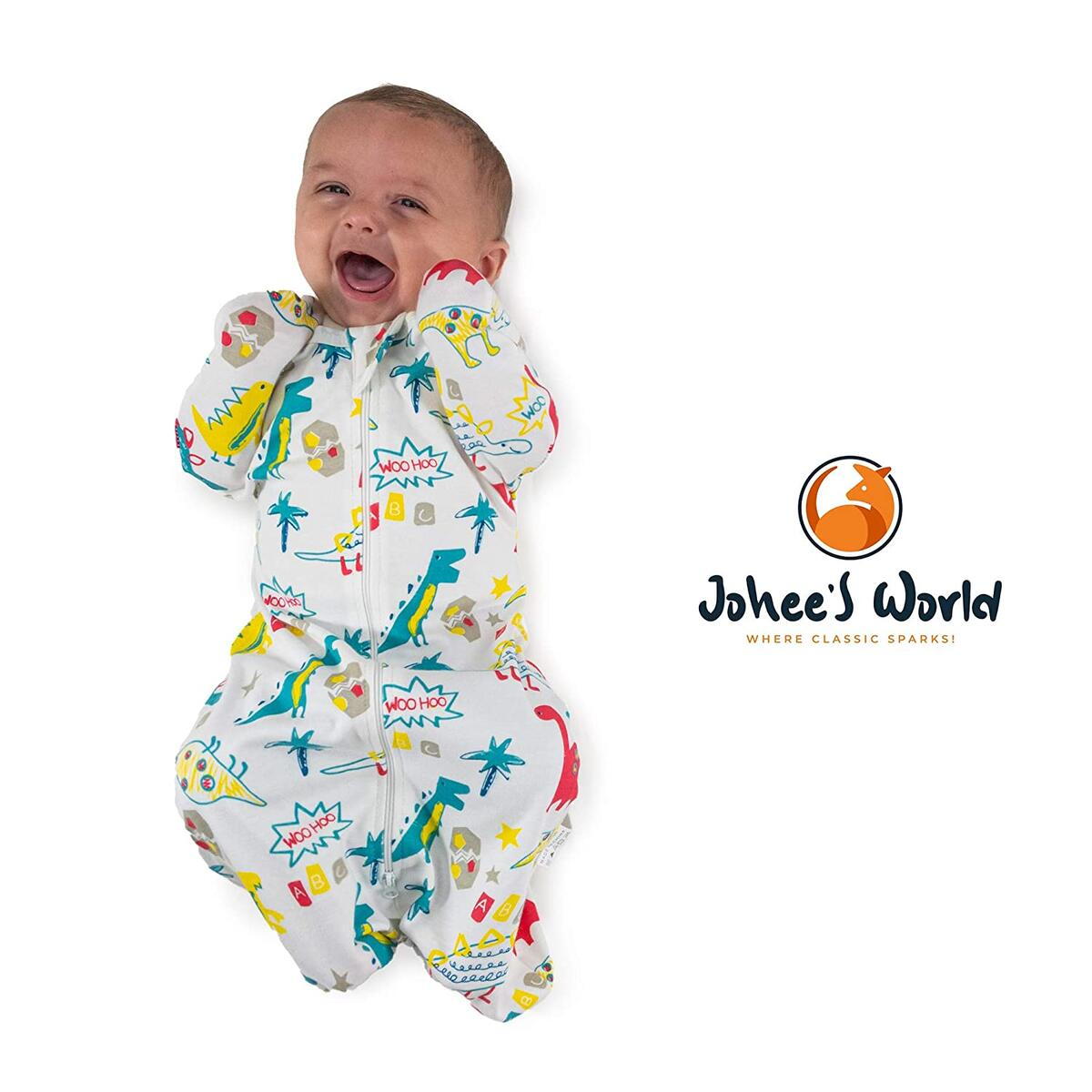 Roll over image to zoom in Johee's World 5pc.Cotton Swaddle Blankets Set with Infant Mittens, Hat, Pacifier-Self-Soothing Newborn Infant Snug Fit Newborn Swaddle Calms Startle Reflex, Baby Swaddle Improves Sleep(0-3 M)