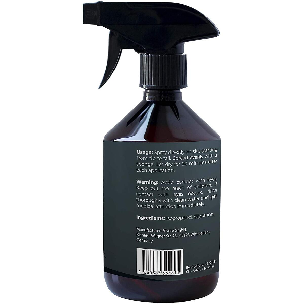 Ski and Snowboard Wax Spray  I 250 ml I Ski board Maintenance tool to prevent dryness I Ensure excellent performance and maximum skiing fun I Alternative to Wax wipes and Rub on Wax