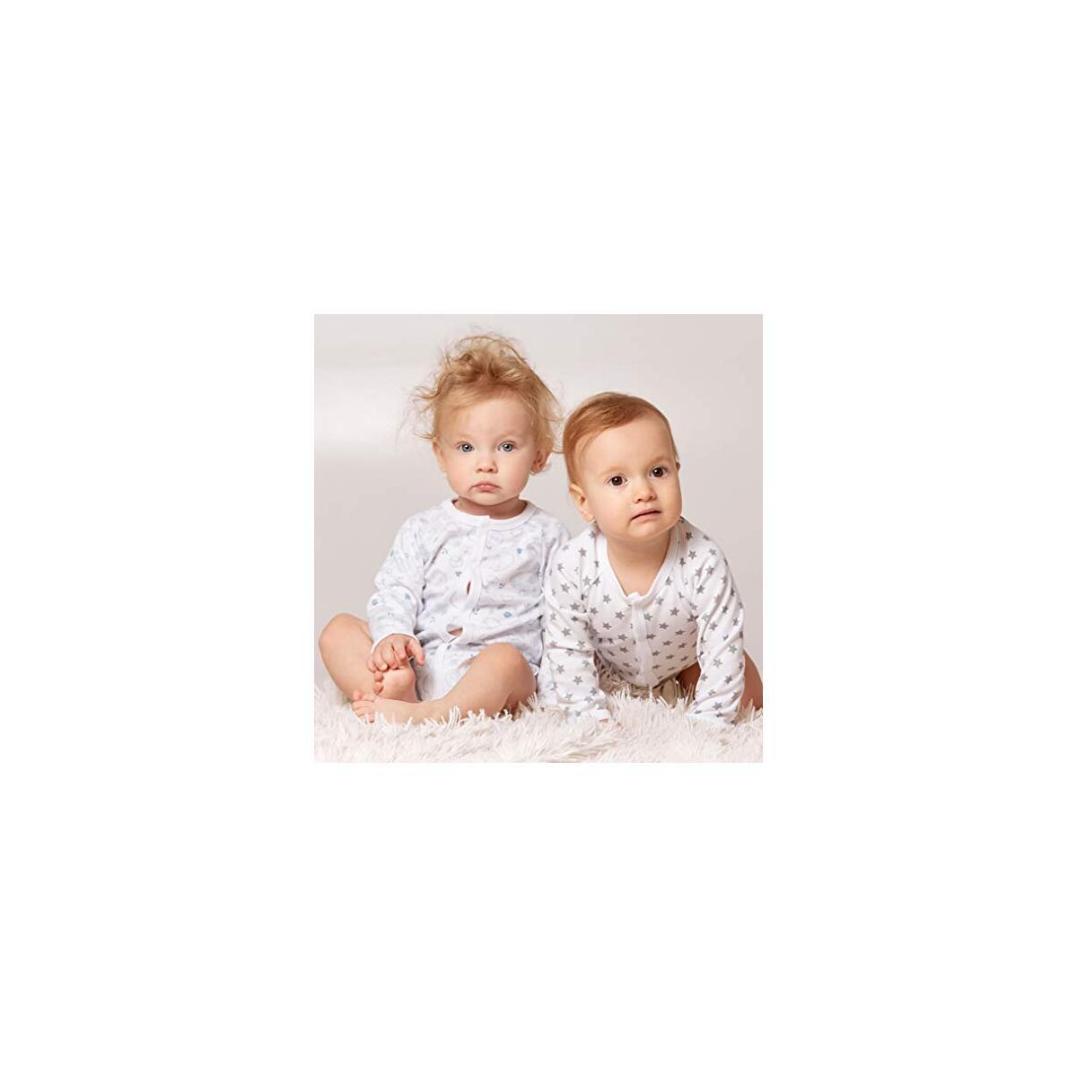 Bernisa Baby Girls' Boys' 3-Pack Long-Sleeve Unisex Design Bodysuit
