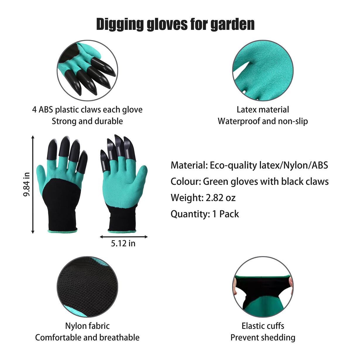Family Garden Planting Gadget Tools 10pcs Set-6pcs Plant Fabric Grow Bag 1/3/5Gallon,2pcs Potato/Tomato/Onion/Vegetable Fabric Pot 7Gallon,1pcs Gardening Digging Gloves,1pcs Soil Tester Moisture Meter